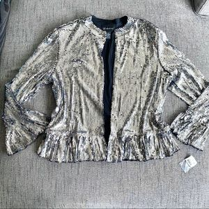✨✨NWT Beautiful Silver Sequence Jacket✨✨